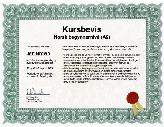 Kursbevis Landscape Jeff